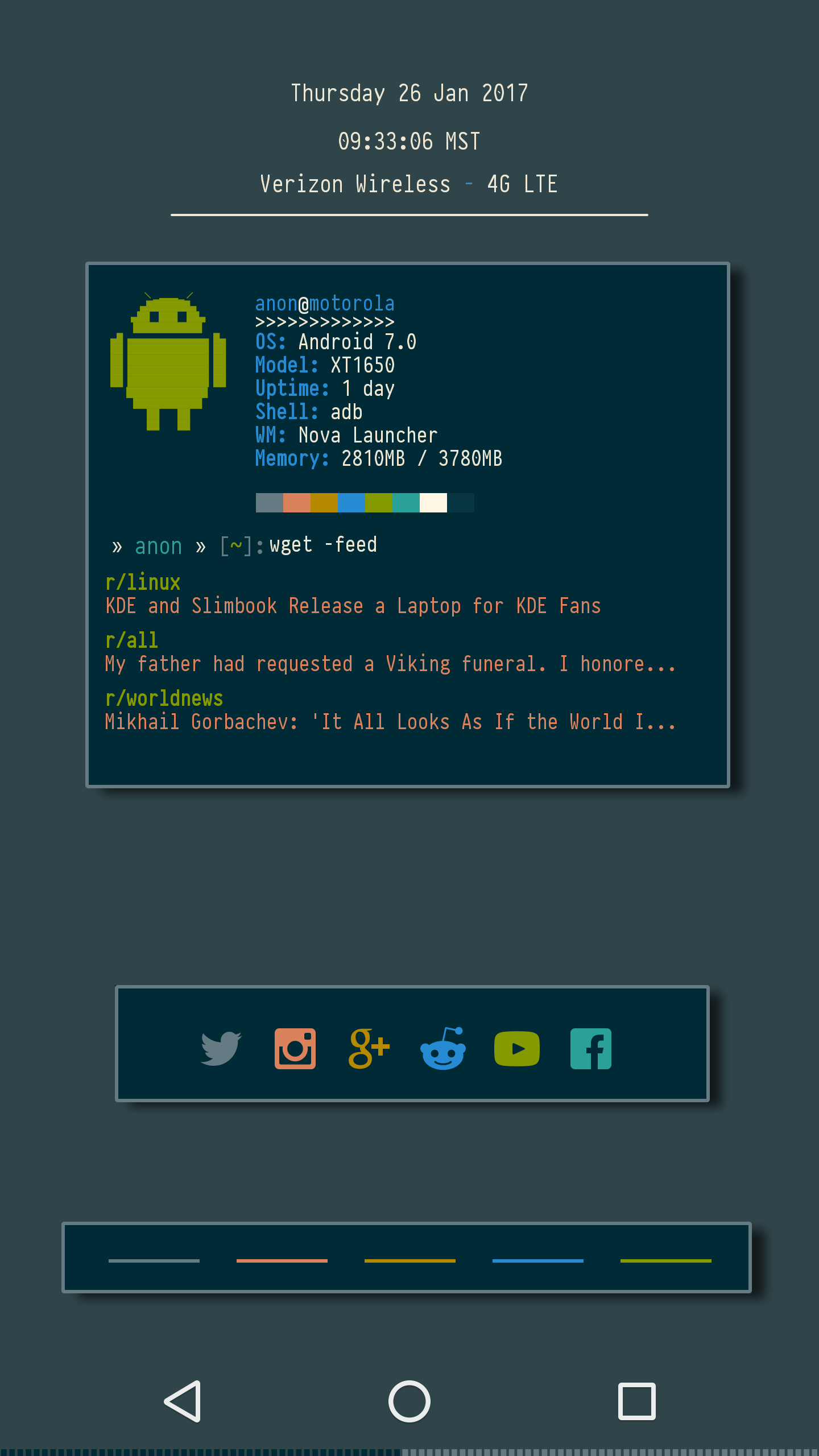 klwp a runixporn inspired live wallpaper for android unixporn